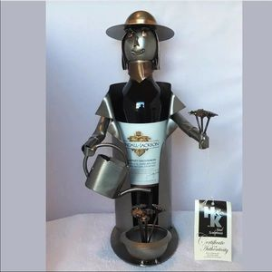 "H&K Steel Sculptures Bottle Caddie ""Gardener"""